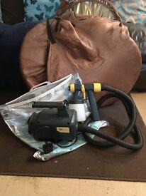 Spray tent and spray gun