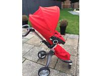 Stokke Xplory Single Pram - Red