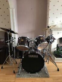DRUM KIT FOR SALE: Yamaha Custom Absolute Maple 6-Piece (Custom Walnut) + Cymbals & Hardcases