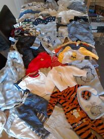 Bundle of boys clothes 0 to 3 months. B
