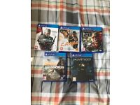 5 Games for Sale - PS4