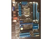 Asus P8Z77-M Pro motherboard spares/repair untested
