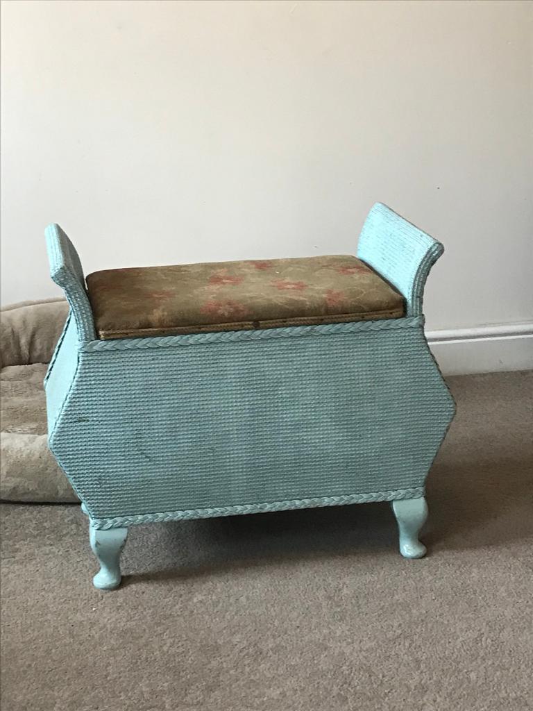 Loom stool storage shabby dressing table