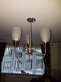 2 x solid brush chrome lights