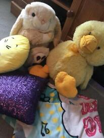 Teddy's, blanket & cushion