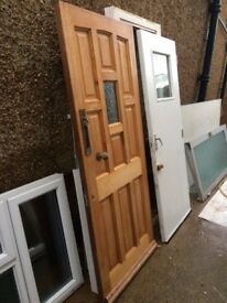 **FRONT DOOR**HEAVY**SOLID**WOOD**WHITE**GOOD CONDITION**HINGES FITTED**