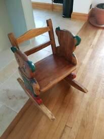 Children's Wooden Rocking Chair