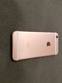 APPLE IPHONE 6S 16GB SIMFREE IN ROSE GOLD COMES WITH CHARGER AND THREE MONTHS WARRANTY