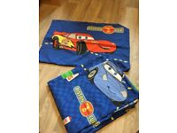 Boys Single Bed Quilt cover set Blue Disney Cars