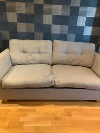 Double Sofa-bed, grey fabric covers. Used