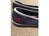 FRED PERRY FLATS. WOMENS UK SIZE 5 - Open to offers