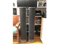 Polkaudio 4ft speakers