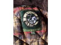 XXL Oxford wax sleeveless jacket.