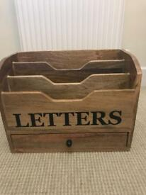 Wooden Letter Box and drawer