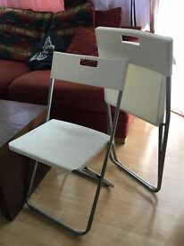 Pair of foldable Ikea GUNDE Chairs