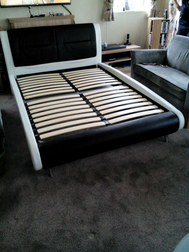Lovely Faux Leather Double Bed from Dreams, 4'6
