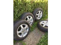 VW Alloys and tyres in pristine condition