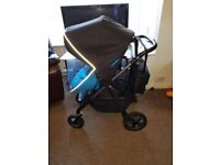 Silver Cross Pioneer 3 in 1 travel system - Sky Blue / Graphite