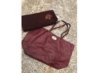 Authentic New Burgundy Mulberry Tote Bag With Purse