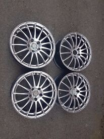 4 Alloy Wheels :15 Spoke Alloy Wheels 17x17JJ VIA JWL (100 x 4.5) In need of a refurb