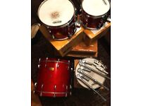 Pearl Masters Studio Drums - Red Sparkle - *NEAR MINT COND.* (boxed with mounts and tom arms)