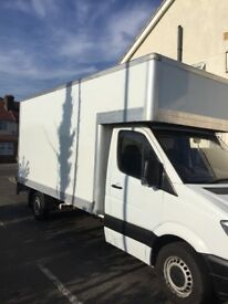 Mercedes sprinter Luton van with tail lift
