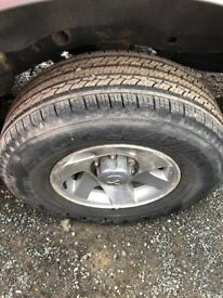 For sale mitshubishi alloys & tyres
