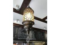 Vintage retro Turkish Moroccan hanging chandelier mosaic lights
