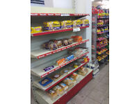Shop Shelving, ideal for off licence, newsagents, convenience store.