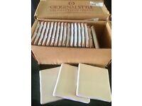 """100x cream originalstyle ceramic tiles (4x4x3/8"""")"""