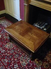 Large Oak Coffee Table Good Quality.