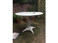 Large outdoor garden round table Victorian Shabby Chic style