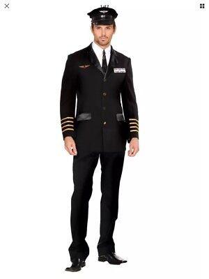 ilot Hugh Jorgan Costume #5236 - Large (Mile High Piloten Kostüm)