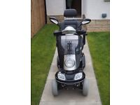 Mobility Scooter Kymco Midi XLS Black and Silver finish.