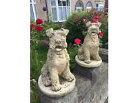 Garden Ornament Dogs