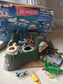 Thunderbirds electronic Tracy Island with various space ships