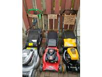 THREE LAWNMOWERS FOR SALE ALL ARE ROTARY