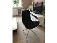 Gorgeous Curved Leather Swivel Chair