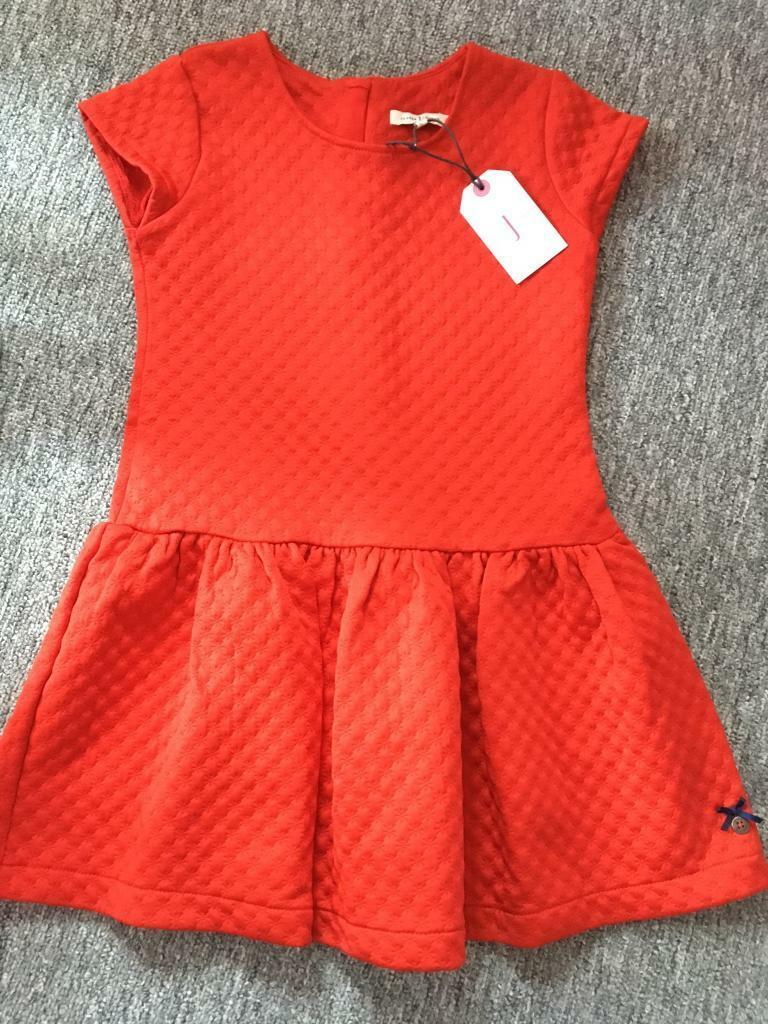 BNWT Girls 4-5 years red dress by junior j