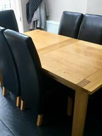 Marks & Spencer's extending dining table & chairs