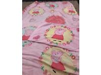 Peppa pig single bed cover & pillow set