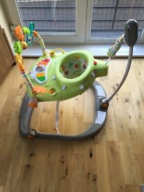 FISHER PRICE WOODLAND FRIENDS SPACE SAVER JUMPEROO EXCELLENT CONDITION