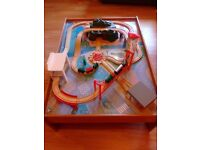 ELC wooden train set and table