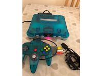 Nintendo 64 ice blue rare