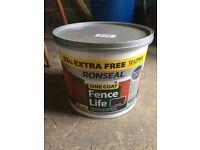 Ronseal One Coat Fence Life - Dark Oak 3x12lts tubs