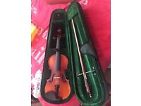 Violin (has one string missing) comes with violin case