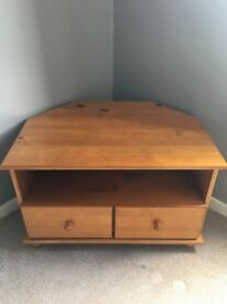 Wood tv stand with drawers