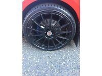 """18"""" 5x100 black alloy wheels"""
