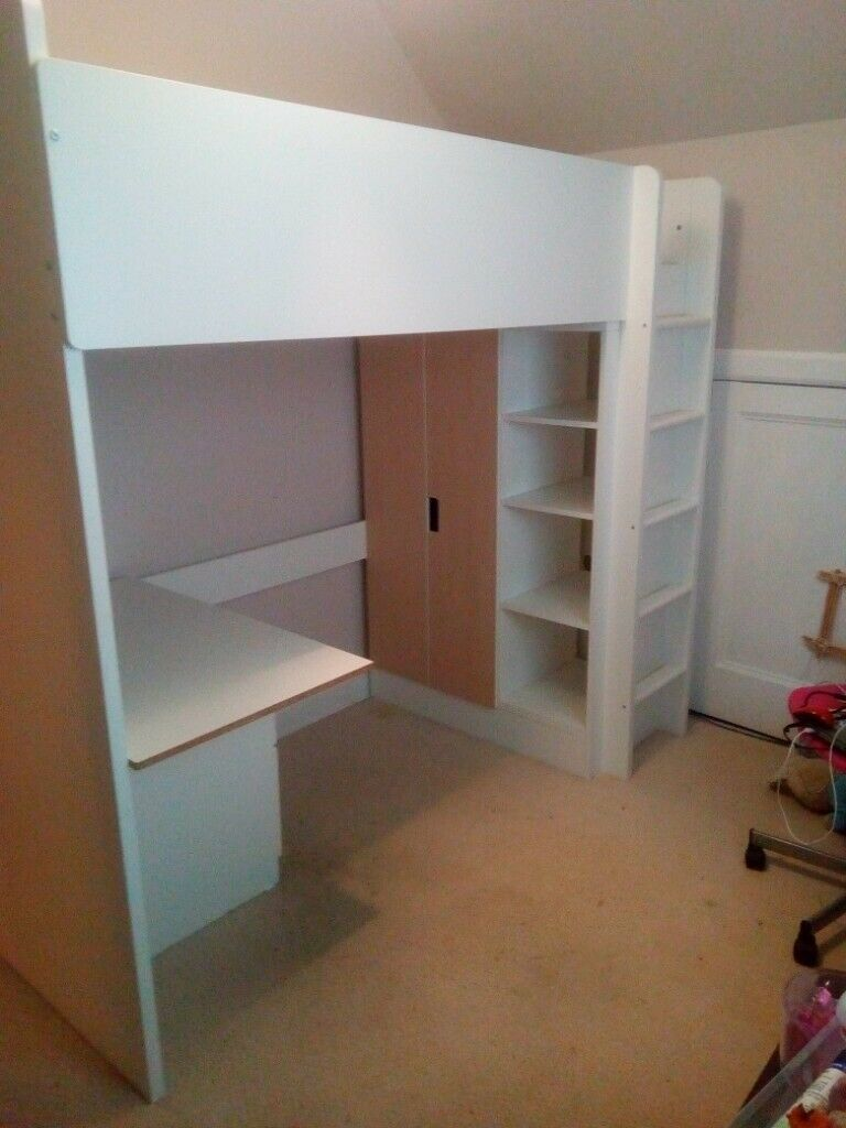 Ikea Stuva Loft Bed With Wardrobe And Desk In Tayport Fife