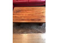 Dark wood, coffee table in excellent condition